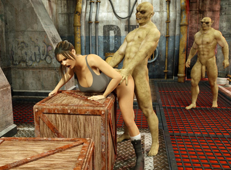 3D Tomb Raider Xxx blackadder- monster sex 1 • free porn comics