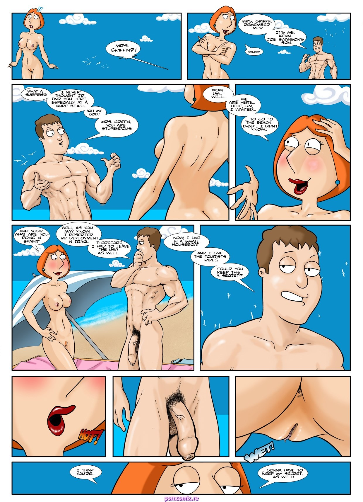Nude Comic Porn kikebrikex- family guy holiday in spain- anal sex porn comic
