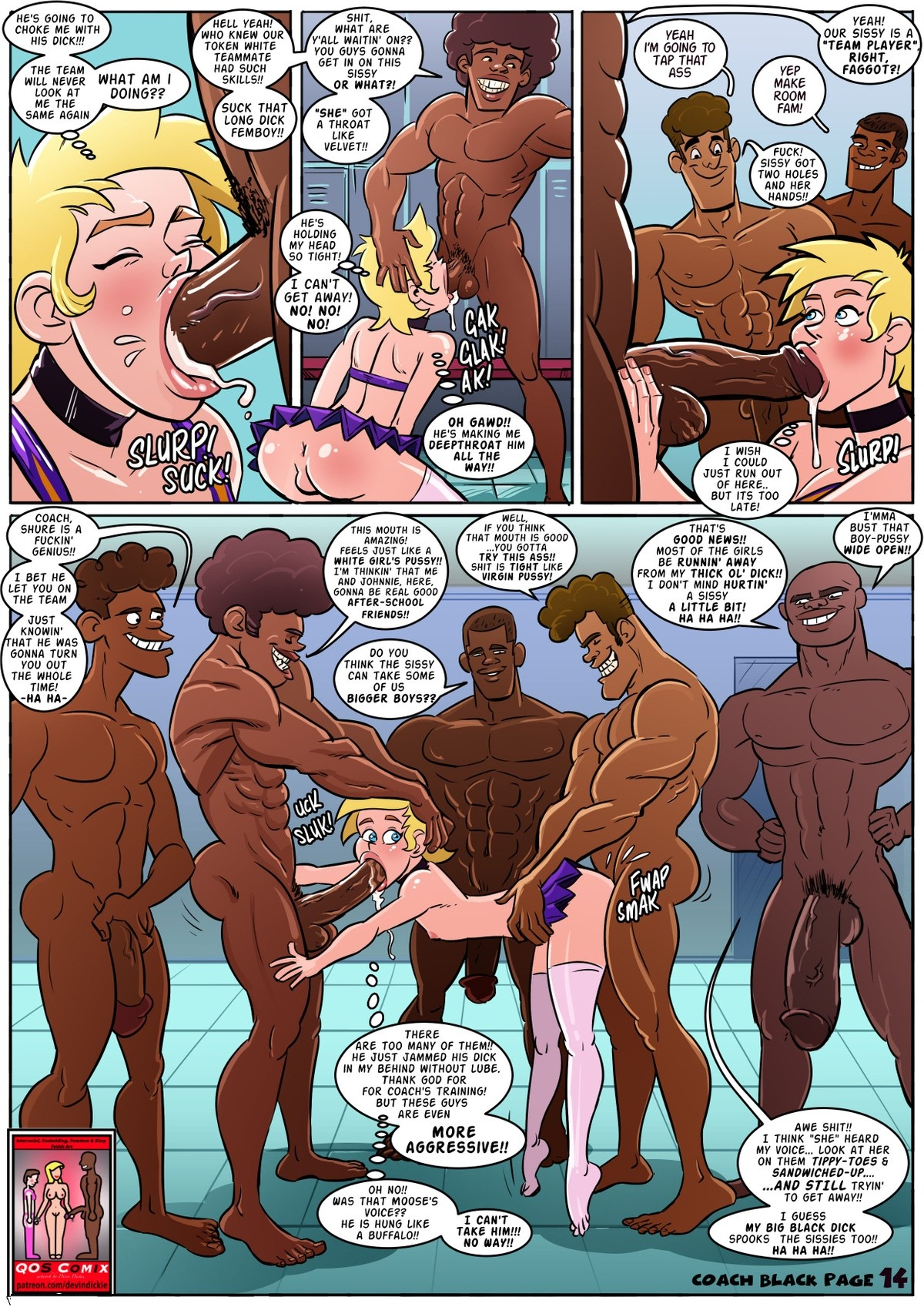 Qos Comix Coach Black 3d Interracial Free Porn Comics Free Hot