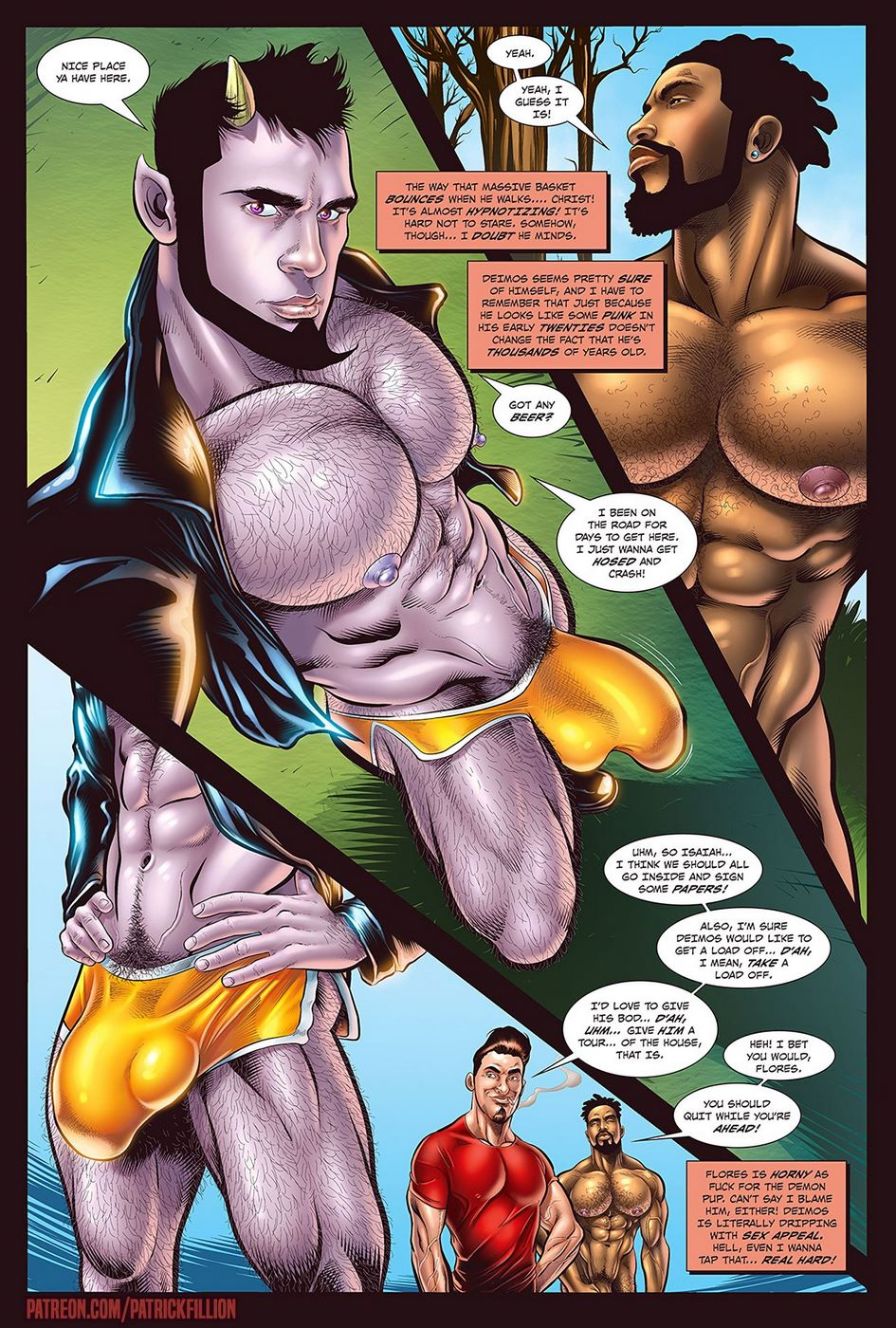 3D Gay Comic Porn patrick fillion] - gay for slay, huge cock anal sex • free